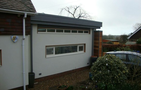 Extension zinc roof W. Sussex