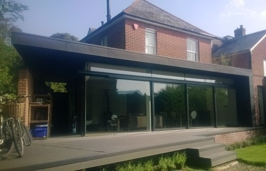 House extension, Winchester in VMZinc Anthra