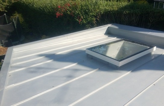 Hove, East Sussex, Rheinzink roof with velux