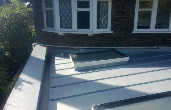 Velux and roof covering on rear extension in Hove, East Sussex